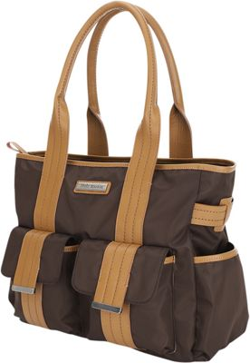 Perry Mackin Zoey Tote Diaper Bag Brown - Perry Mackin Diaper Bags & Accessories