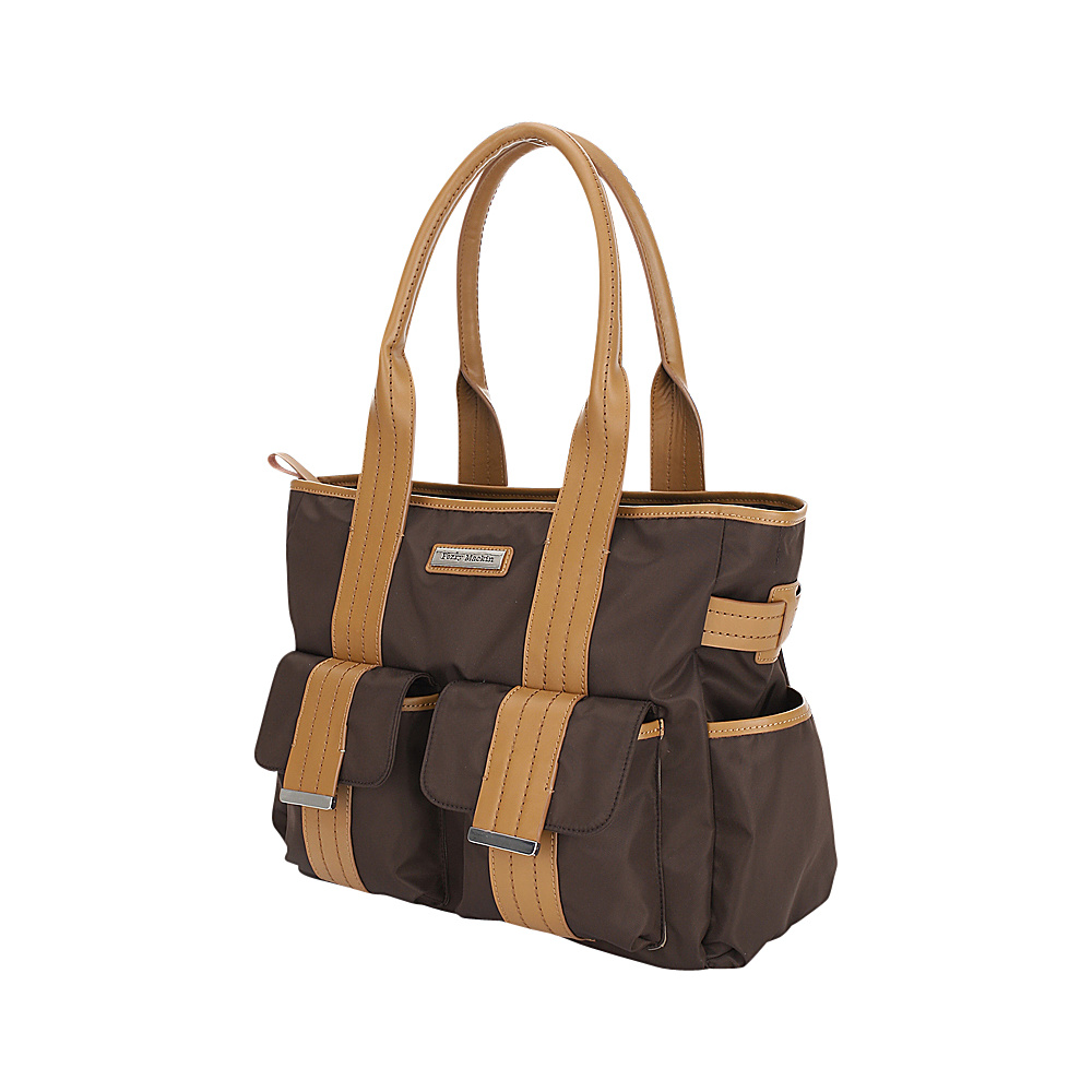 Perry Mackin Zoey Tote Diaper Bag Brown Perry Mackin Diaper Bags Accessories