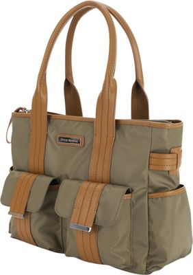 Perry Mackin Zoey Tote Diaper Bag Olive - Perry Mackin Diaper Bags & Accessories