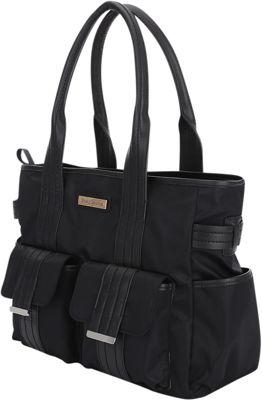 Perry Mackin Zoey Tote Diaper Bag Black - Perry Mackin Diaper Bags & Accessories