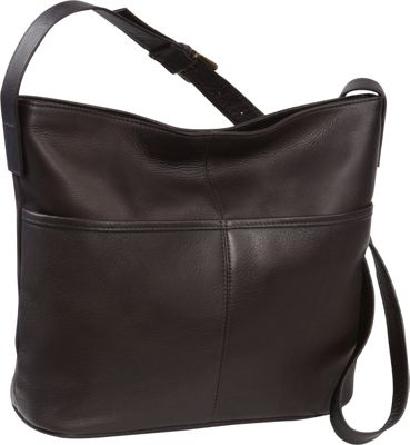 Le Donne Leather Two Slip Pocket Hobo Cafe - Le Donne Leather Leather Handbags