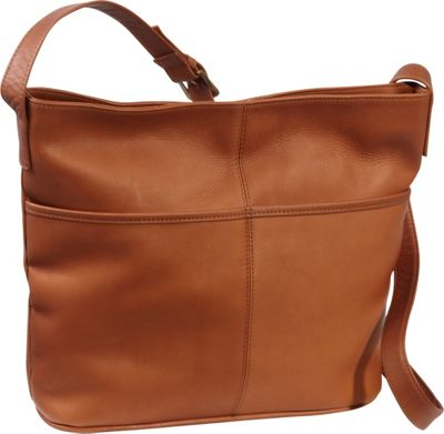 Le Donne Leather Two Slip Pocket Hobo Tan - Le Donne Leather Leather Handbags