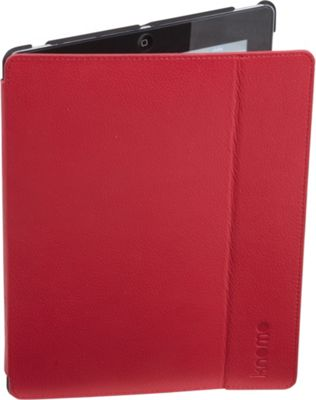 KNOMO London iPad 3/4 Leather Folio Teaberry