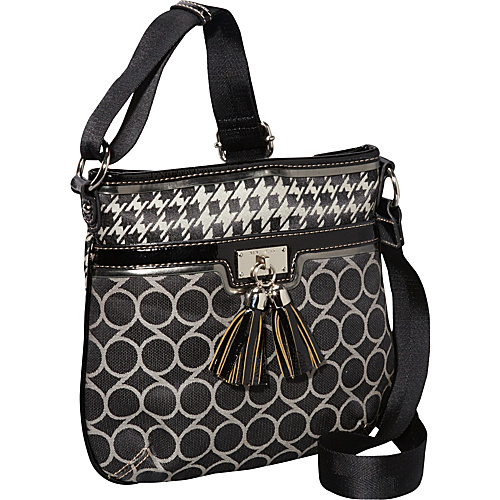 Nine West Handbags On Cloud Ninety Nine Crossbody Black Ivory Black - Nine West Handbags Fabric Handbags