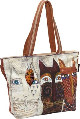 Laurel Burch Ancestral Cats Tote Multi - Laurel Burch Fabric Handbags