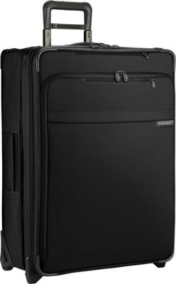 Briggs & Riley Baseline Medium Exp. Upright Black - Briggs & Riley Softside Checked