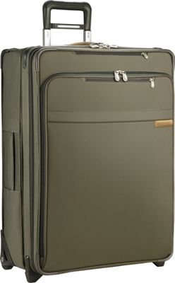 Briggs & Riley Baseline Medium Exp. Upright Olive - Briggs & Riley Softside Checked