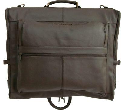 AmeriLeather Leather Three-suit Garment Bag Chestnut Brown - AmeriLeather Garment Bags