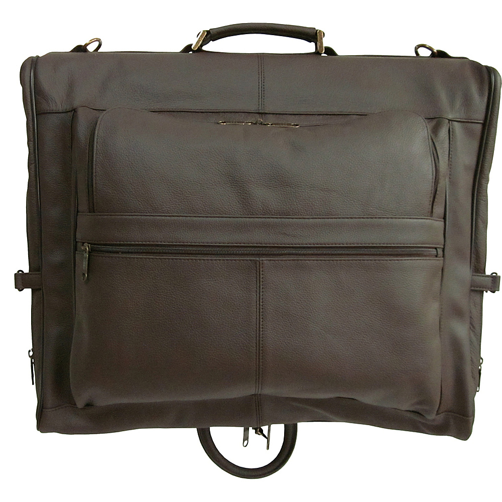 AmeriLeather Leather Three-suit Garment Bag Chestnut Brown - AmeriLeather Garment Bags - Luggage, Garment Bags