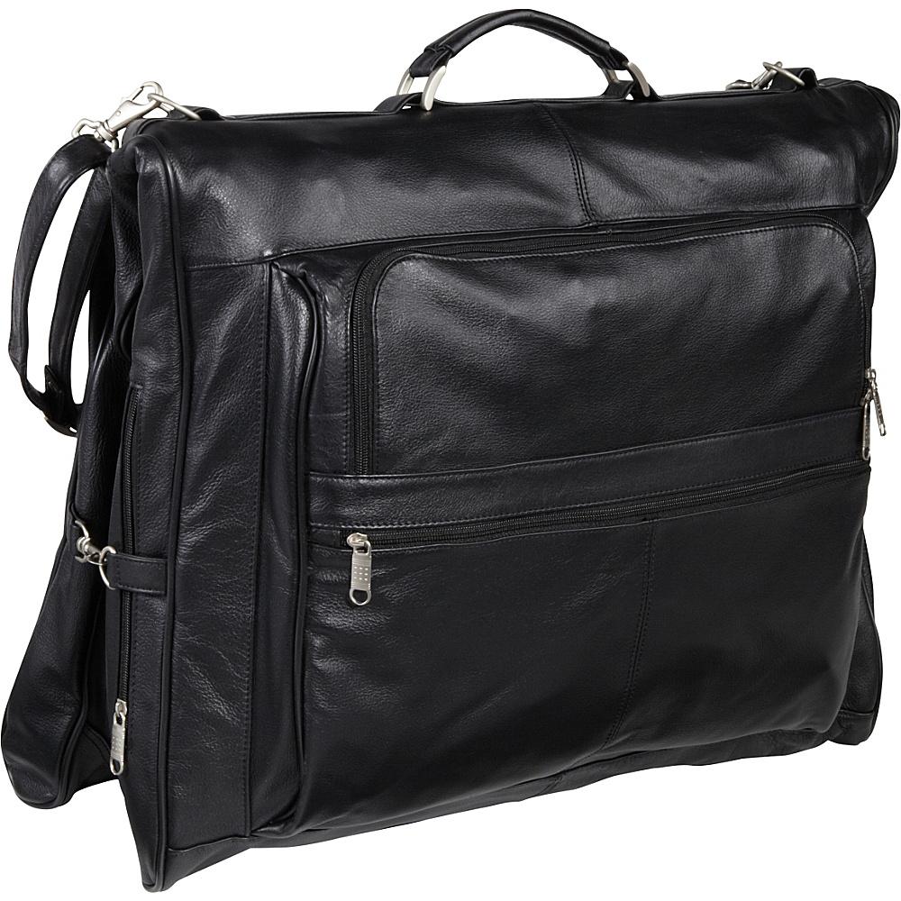 AmeriLeather Leather Three-suit Garment Bag Black - AmeriLeather Garment Bags - Luggage, Garment Bags