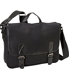 Canvas Laptop Messenger Black