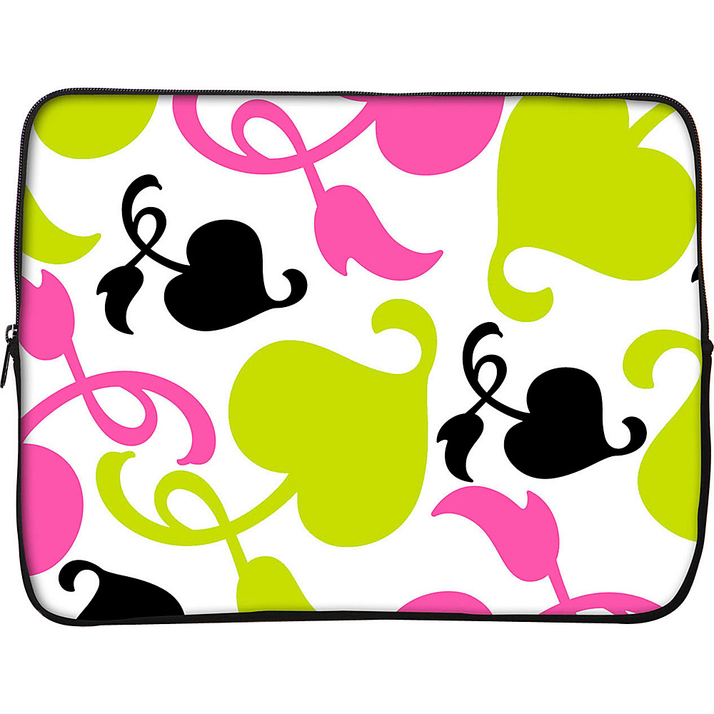 Designer Sleeves 14 Laptop Sleeve by Got Skins? Designer Sleeves Spring Pink and Lime Designer Sleeves Electronic Cases