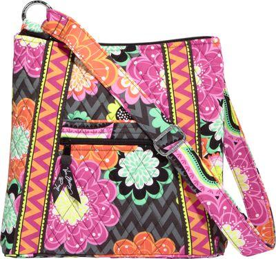 Vera Bradley Hipster Crossbody Ziggy Zinnia - Vera Bradley Fabric Handbags