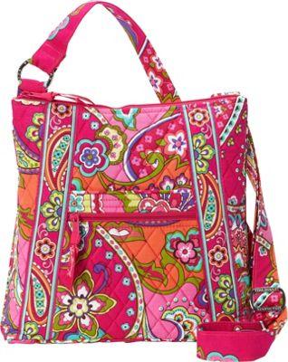 Vera Bradley Hipster Crossbody Pink Swirls - Vera Bradley Fabric Handbags
