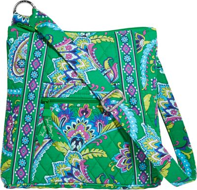 Vera Bradley Hipster Crossbody Emerald Paisley - Vera Bradley Fabric Handbags