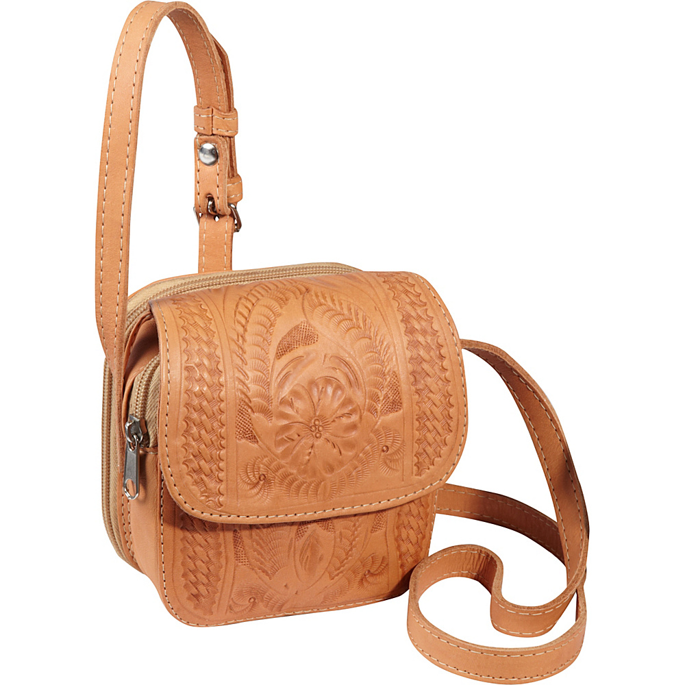 Ropin West Small Cross body Bag Natural Ropin West Leather Handbags