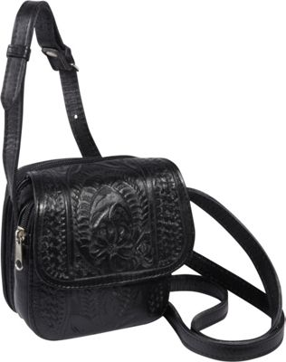 Ropin West Small Cross-body Bag Black - Ropin West Leather Handbags
