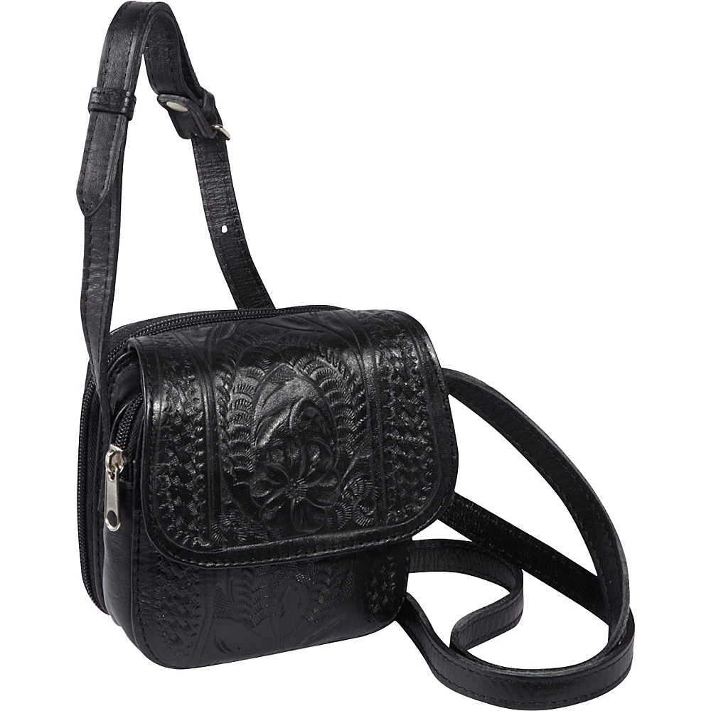 Ropin West Small Cross body Bag Black Ropin West Leather Handbags