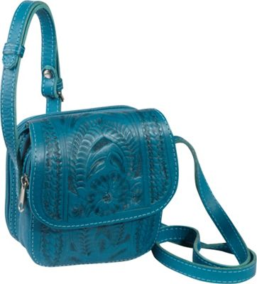 Ropin West Small Cross-body Bag Turquoise - Ropin West Leather Handbags