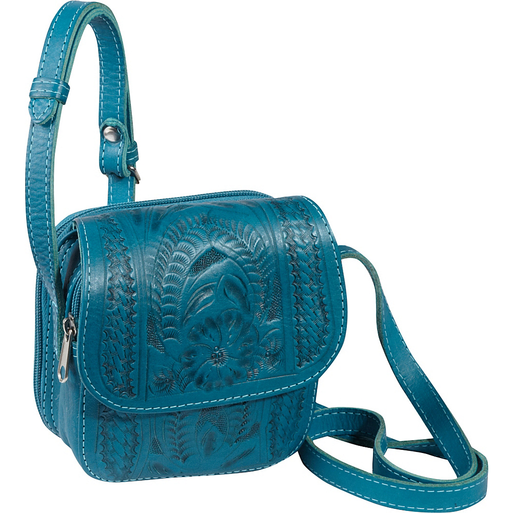 Ropin West Small Cross body Bag Turquoise Ropin West Leather Handbags
