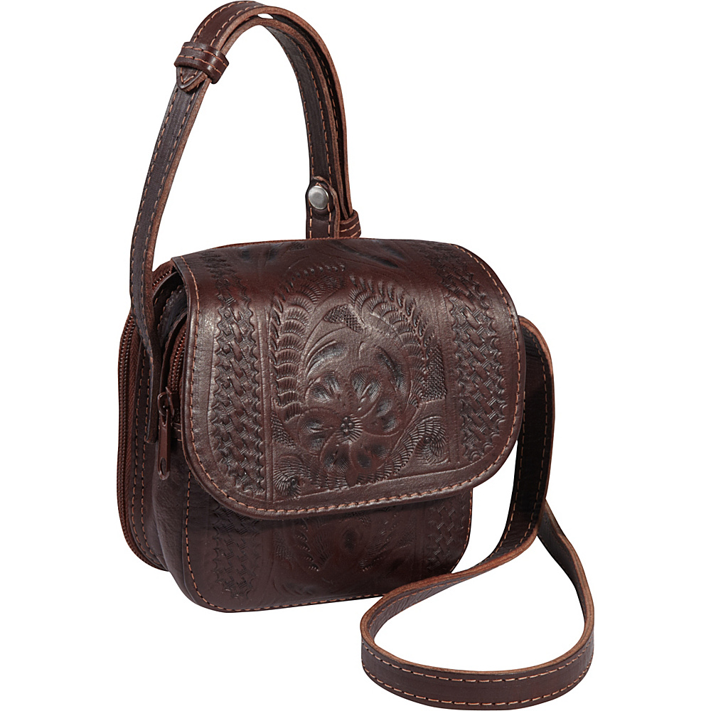 Ropin West Small Cross body Bag Brown Ropin West Leather Handbags