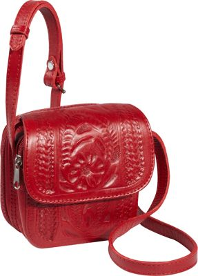 Ropin West Small Cross-body Bag Red - Ropin West Leather Handbags