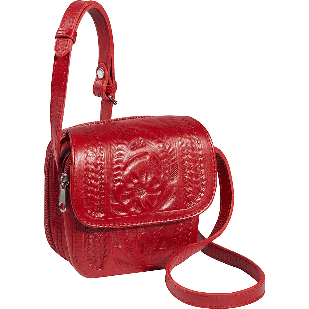 Ropin West Small Cross body Bag Red Ropin West Leather Handbags
