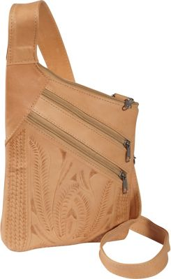 Ropin West Cross Over Crossbody Bag Natural - Ropin West Leather Handbags