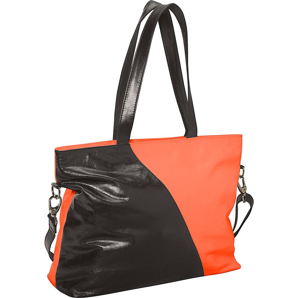 Latico Leathers Dannie Tote Salmon/Espresso - Latico Leathers Fabric Handbags - Handbags, Fabric Handbags