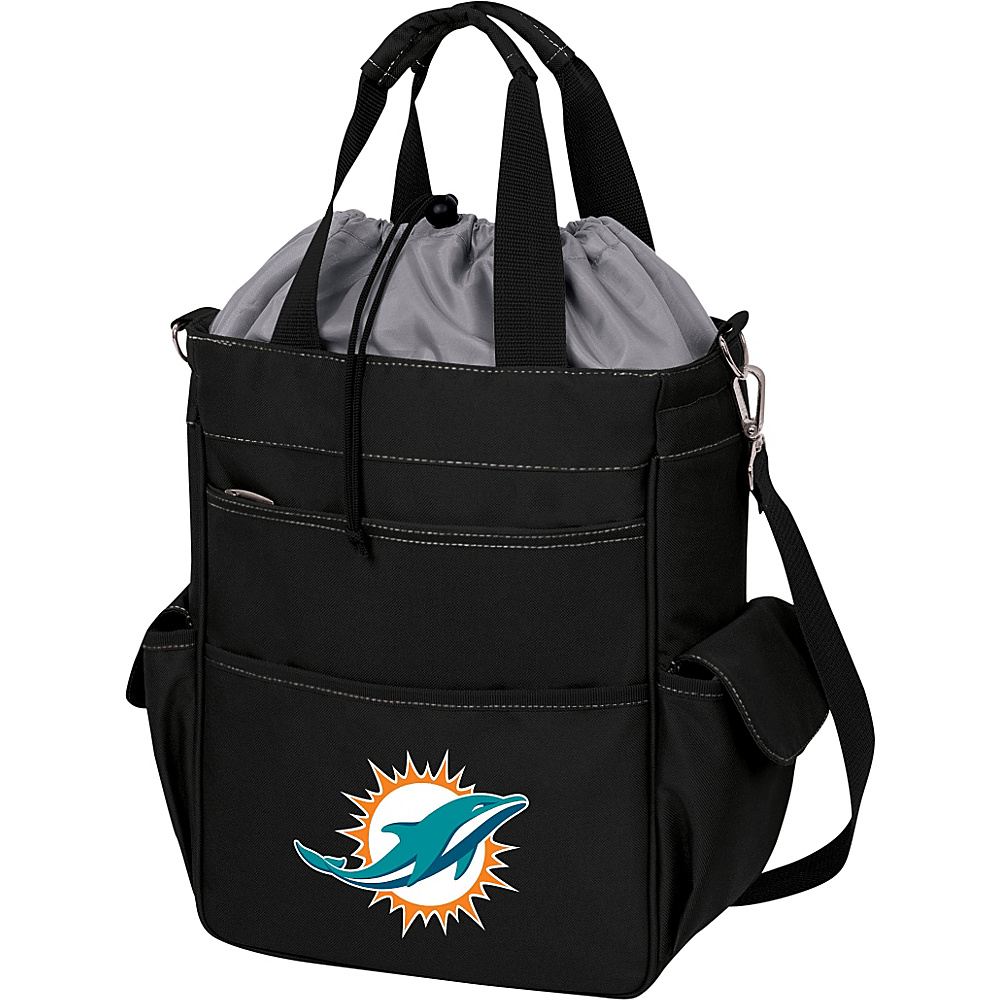 Picnic Time Miami Dolphins Activo Cooler Miami Dolphins Black - Picnic Time Outdoor Coolers - Outdoor, Outdoor Coolers