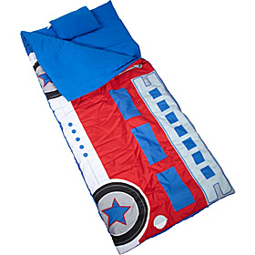 Climb-In Fire Truck Sleeping Bag Fire Truck