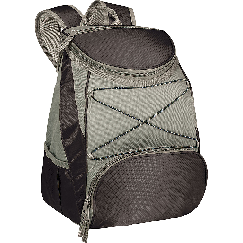 Picnic Time PTX Backpack Cooler Black w/ Silver - Picnic Time Outdoor Coolers - Outdoor, Outdoor Coolers
