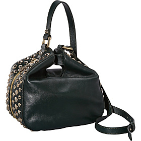 Tough Girl Leather Stevie Small Pinched Hobo Hunter Green