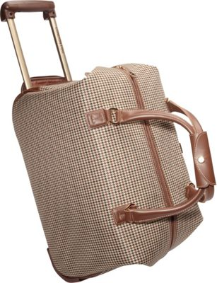 London Fog Chelsea Lites Wheeled Club Bag - 20 inch Olive Plaid - London Fog Softside Carry-On