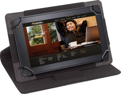 SOLO Link Universal Tablet Case, fits tablets 5.5 inch up to 8.5 inch Black - SOLO Electronic Cases