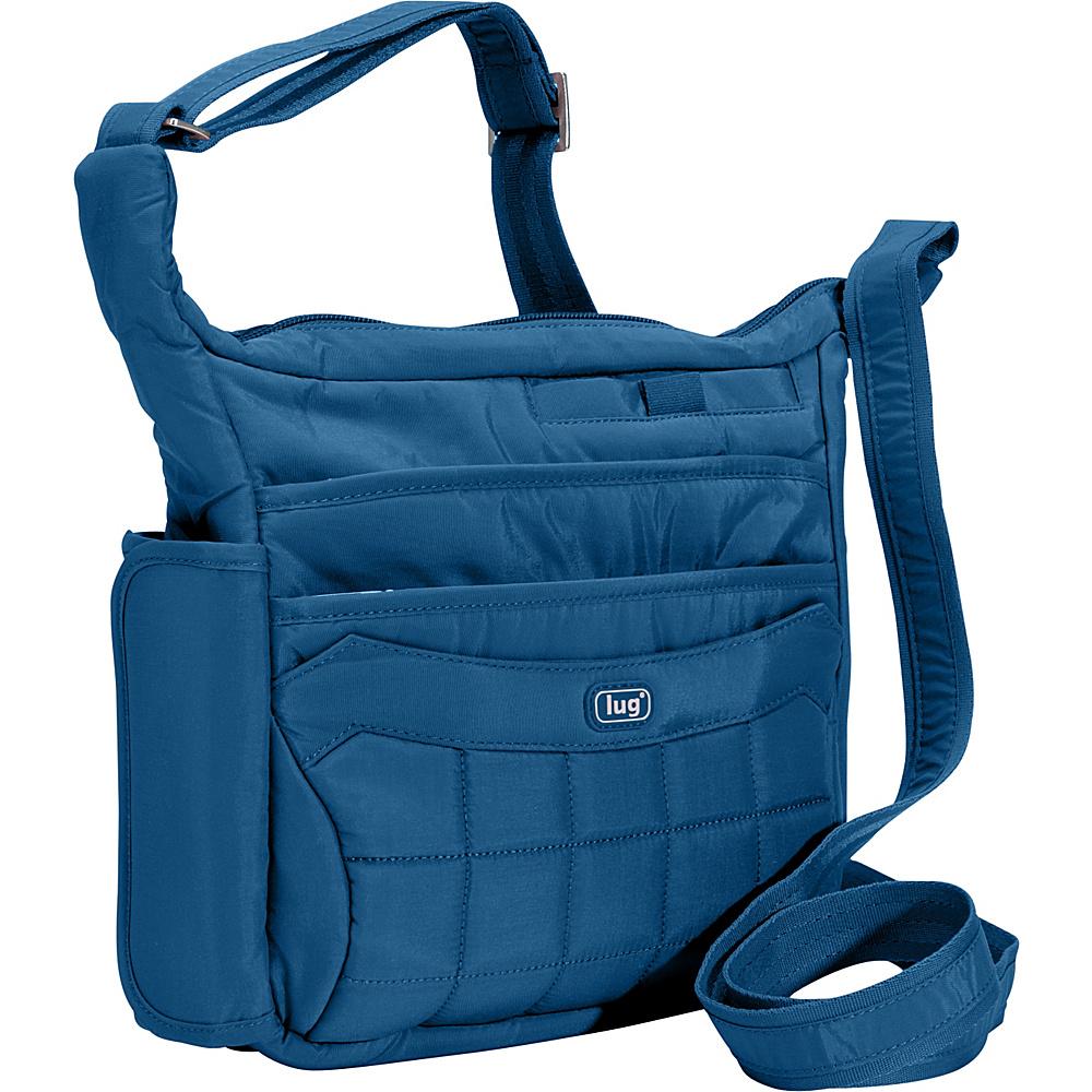 Lug Flutter Mini Cross Body Ocean Blue Lug Fabric Handbags