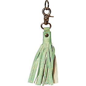 Leather Tassel Keychain - Apple Apple