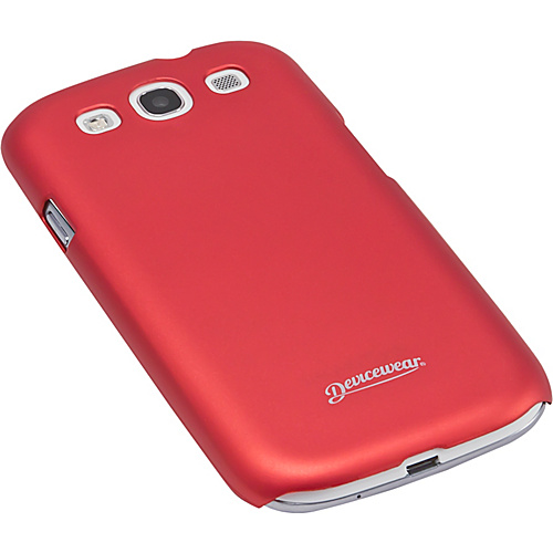 Devicewear Metro: Samsung Galaxy S III Case (For All Galaxy S3 Phones from AT&T, T-Mobile, Sprint, Verizon, or Unlocked) Red - Devicewear Personal Electronic Ca