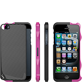 Aluminum Bumper for iPhone 5 Black / Pink