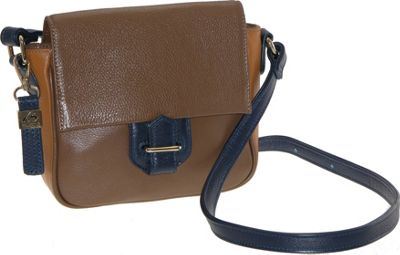 Buxton Hailey Crossbody Brown - Buxton Leather Handbags