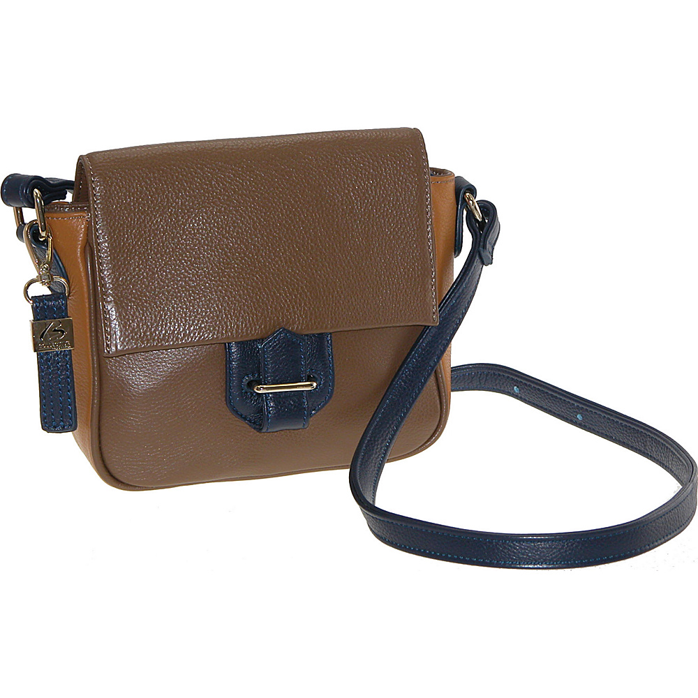 Buxton Hailey Crossbody Brown - Buxton Leather Handbags