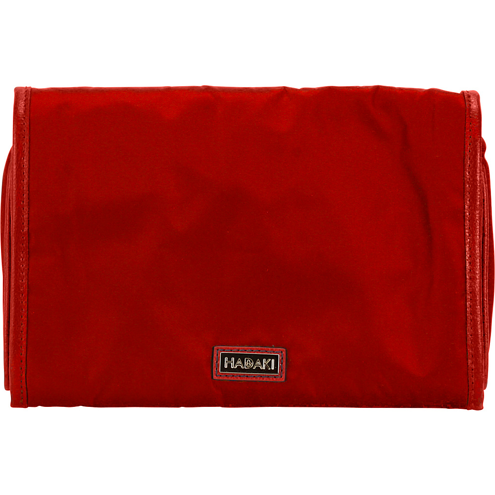 Hadaki Nylon Toiletry Pod Roll-up Red - Hadaki Toiletry Kits - Travel Accessories, Toiletry Kits