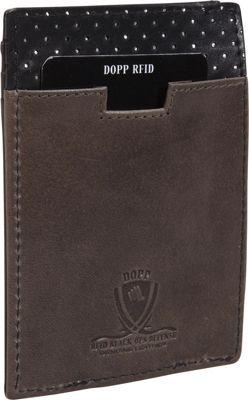 Dopp RFID Black Ops Front Pocket Money Clip Wallet Black - Dopp Men's Wallets