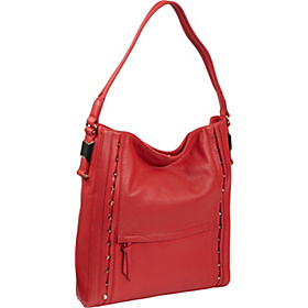Ila 2 Studs Galaxy Leather Hobo True Red