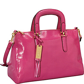 Banbury Snake Convertible Satchel Pink