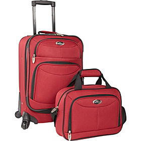 Fashion 2 Piece Carry-on Spinner Set Maroon