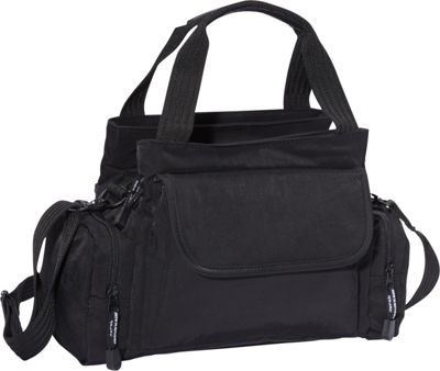 Derek Alexander EW Top Zip Handbag Mini Duffle Black - Derek Alexander Fabric Handbags