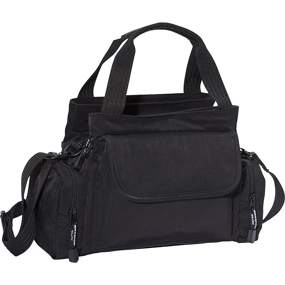 Derek Alexander EW Top Zip Handbag Mini Duffle Black - Derek Alexander Fabric Handbags - Handbags, Fabric Handbags