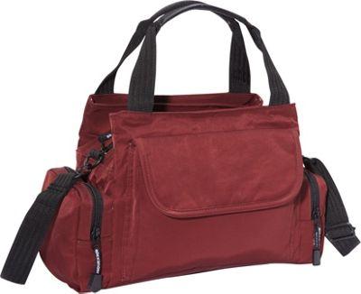 Derek Alexander EW Top Zip Handbag Mini Duffle BURG - Derek Alexander Fabric Handbags