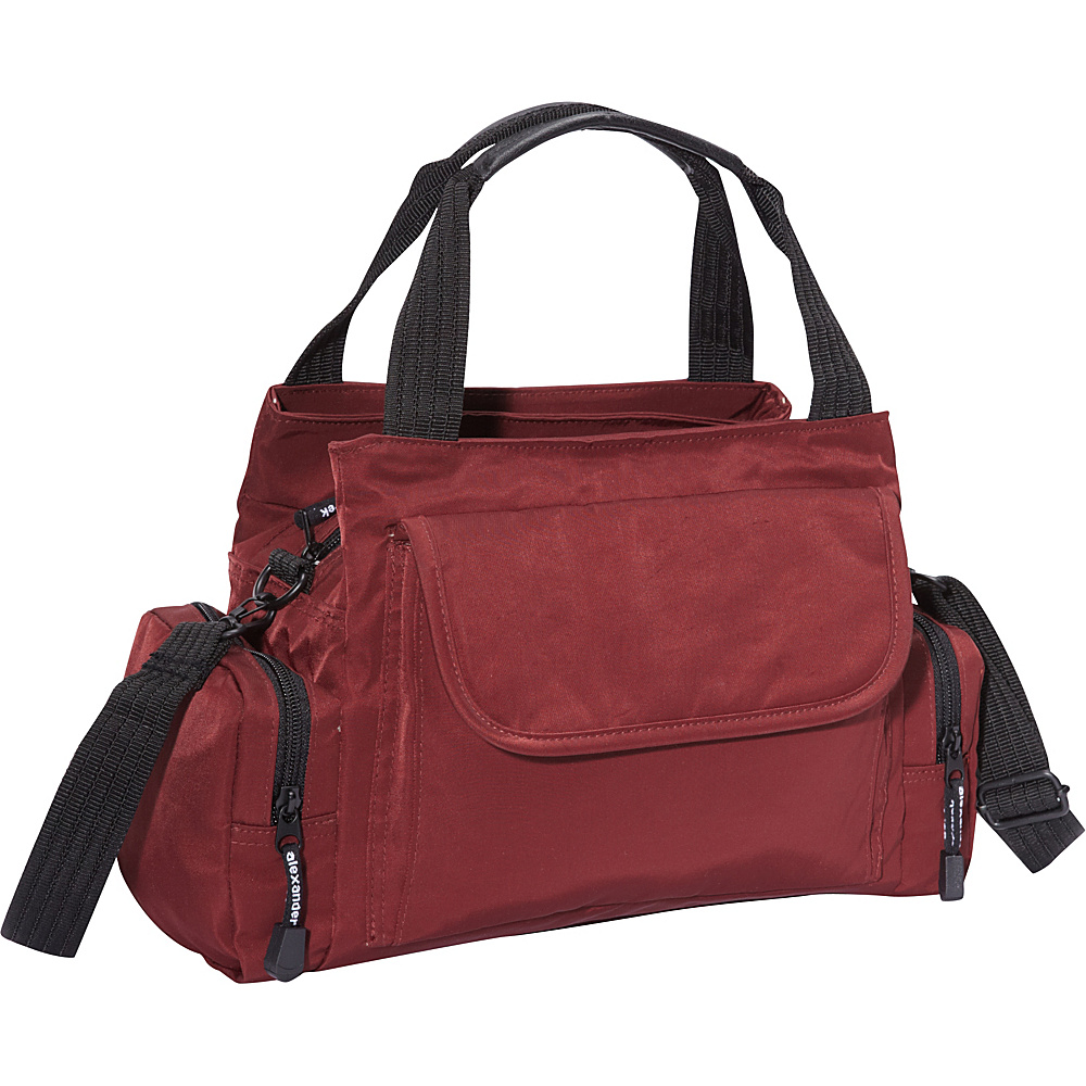 Derek Alexander EW Top Zip Handbag Mini Duffle BURG - Derek Alexander Fabric Handbags - Handbags, Fabric Handbags